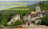 Agevolazioni riservate alle imprese localizzate nella Zona Franca Urbana sisma centro Italia