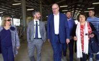Il Commissario Ue Hogan e il  Presidente Cia Bartolini in visita alle aziende colpite dal sisma
